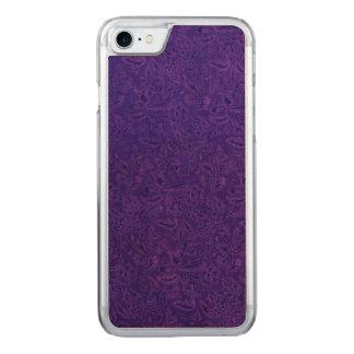Vintage Floral Amethyst Purple Flowers Leaf Carved iPhone 7 Case