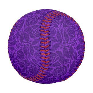 Vintage Floral Amethyst Purple Flowers Leaves Baseball