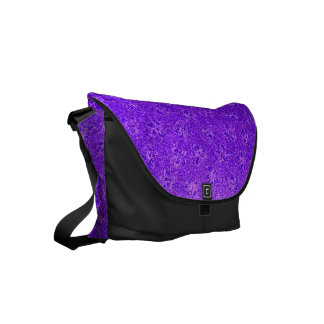 Vintage Floral Amethyst Purple Grape Small Messenger Bag