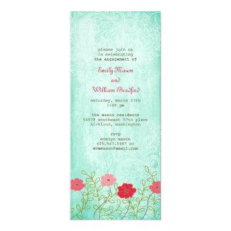 Vintage Floral and Leaves Invitation