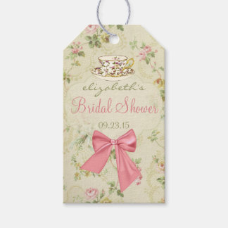 Vintage Floral and Teacup Bridal Shower Gift Tags
