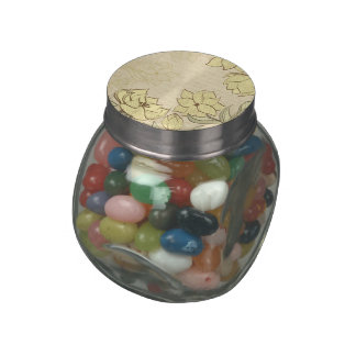 Vintage Floral and Vintage Text - Personalize!! Jelly Belly Candy Jar