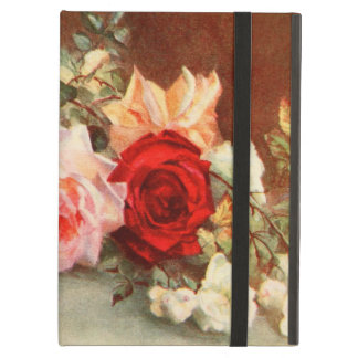 Vintage Floral Antique Rose Flowers Still Life Art iPad Air Cover