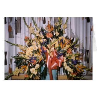 Vintage Floral Arrangement Greeting Card