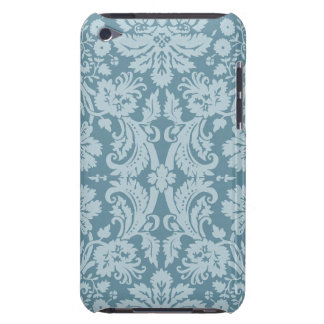 Vintage floral art nouveau blue green barely there iPod cases