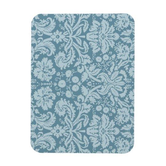 Vintage floral art nouveau blue green pattern magnet