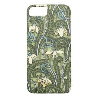 Vintage Floral Art Nouveau Snowdrop Flowers iPhone 8/7 Case