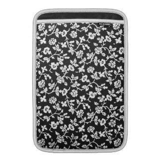 """Vintage Floral B&W 11"""" MacBook Air sleeve"""