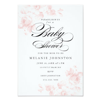Vintage floral | Baby Shower Invitation