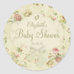 Vintage Floral- Baby Shower Stickers