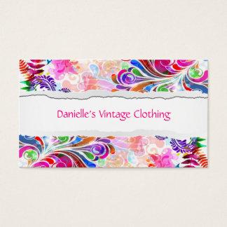 Vintage Floral Background Business Card