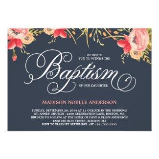 Vintage Floral | Baptism Invitation