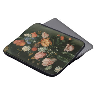 Vintage Floral Baroque, Vase of Flowers in a Niche Laptop Sleeve