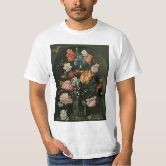 Vintage Floral Baroque, Vase of Flowers in a Niche T-Shirt