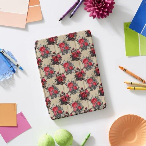 Vintage Floral Beige Pattern  iPad Pro Cover
