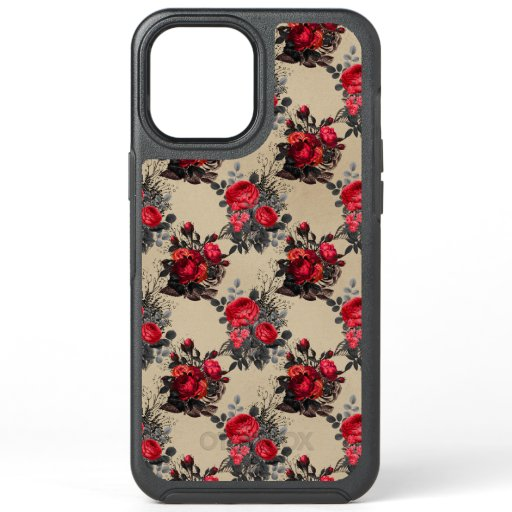 Vintage Floral Beige Pattern OtterBox Symmetry iPhone 12 Pro Max Case