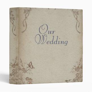 Vintage Floral Beige Wedding Album Binder