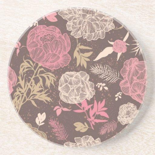 Vintage Floral Beverage Coasters