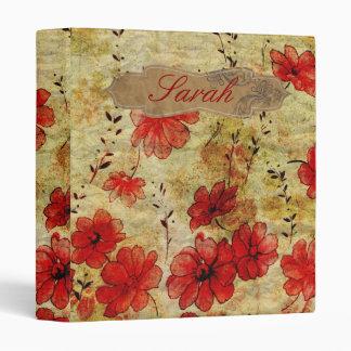 Vintage floral Binder