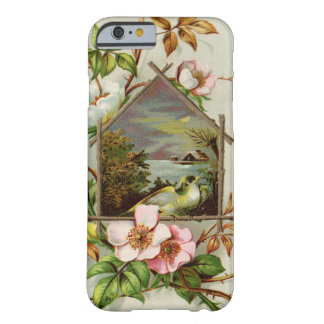 Vintage Floral Birdhouse Barely There iPhone 6 Case
