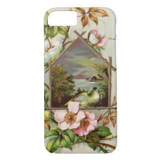 Vintage Floral Birdhouse iPhone 8/7 Case