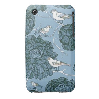 Vintage Floral Birds iPhone 3 Cover