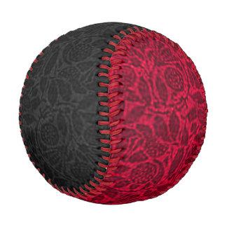 Vintage Floral Black and Red Baseball