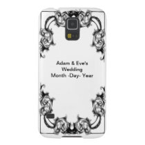 VINTAGE FLORAL BLACK AND WHITE wedding phone casae Case For Galaxy S5