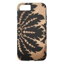Vintage Floral Black & Gold iphone 7 Case