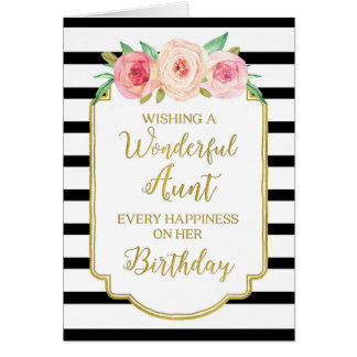 vintage birthday for aunt greeting cards  zazzle, Birthday card
