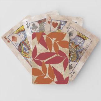 Vintage floral blanco baraja de cartas