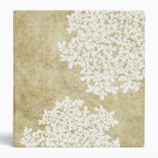 "Vintage floral blanco carpeta 1 1/2"""