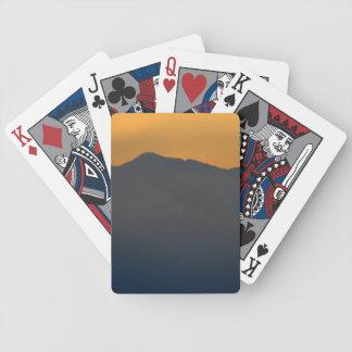Vintage floral blanco cartas de juego