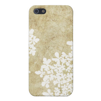 Vintage floral blanco iPhone 5 cárcasas