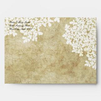 Vintage floral blanco sobre