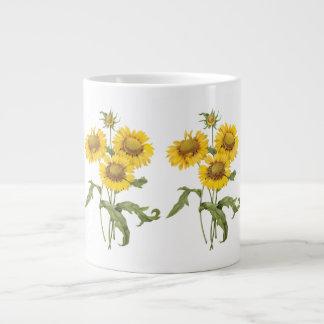 Vintage Floral Blanket Flower Sunflower by Redoute 20 Oz Large Ceramic Coffee Mug