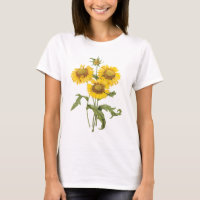 Vintage Floral Blanket Flower Sunflower by Redoute T-Shirt