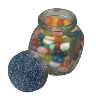 Vintage Floral Blue Jelly Belly Candy Jars