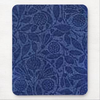 Vintage Floral Blue Mouse Pads