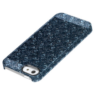 Vintage Floral Blue Uncommon Clearly™ Deflector iPhone 5 Case