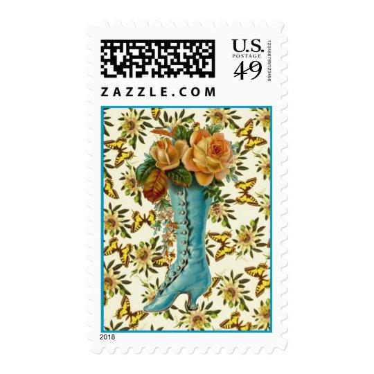 Vintage Floral Boot Postage