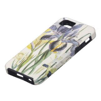 Vintage Floral Botany, Garden Iris Flowers iPhone SE/5/5s Case