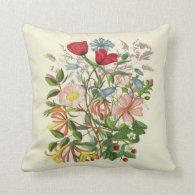 Vintage Floral Bouquet Pillow