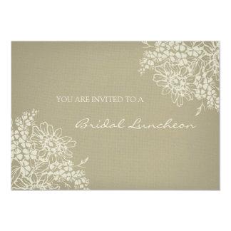 Vintage Floral Bridal Lunch Invitation Cards