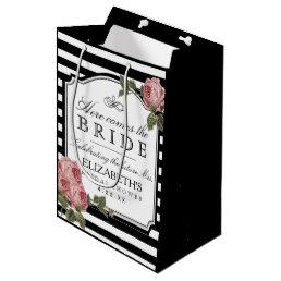 Vintage Floral Bridal Shower Customize The Color Medium Gift Bag