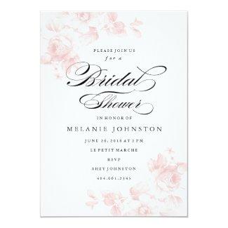"Vintage floral | Bridal Shower Invitation 5"" X 7"" Invitation Card"