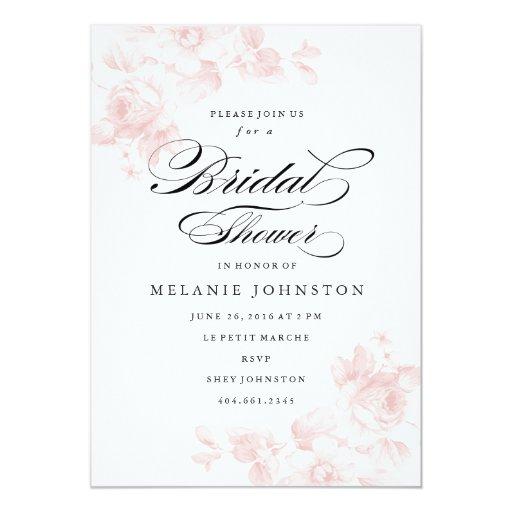 Vintage Wedding Shower Invitations as adorable invitation template