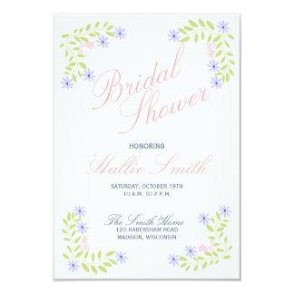Vintage Floral Bridal Shower Invitation