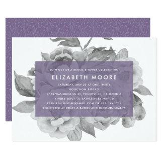 Vintage Floral Bridal Shower Invitation | Violet