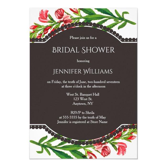 Vintage floral bridal shower invitations zazzle for Classic bridal shower invitations